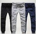 Бесплатная Доставка мужские брюки уменьшают подходящие досуг брюки для мужчин 3 цвета M-XXL