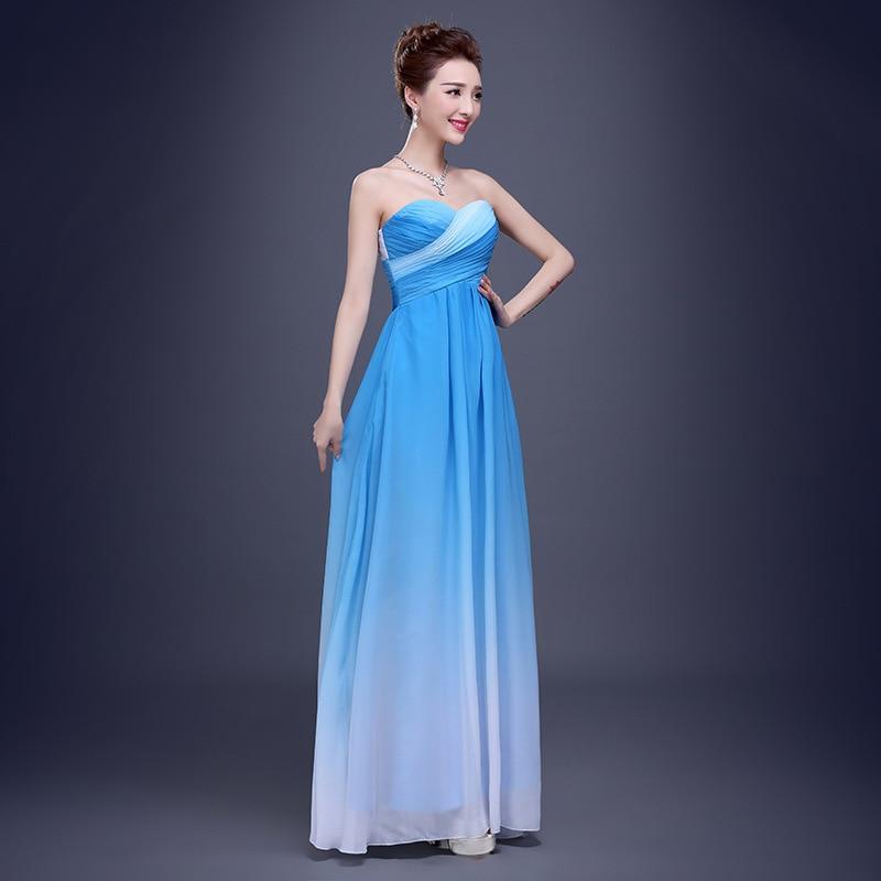 Lujo Vestido De Fiesta Azul Ombre Molde - Vestido de Novia Para Las ...