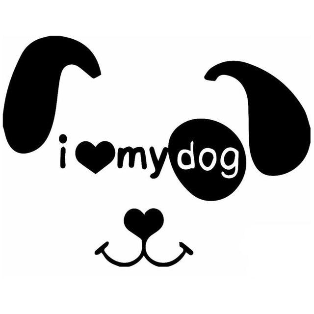 Black Dog Sticker