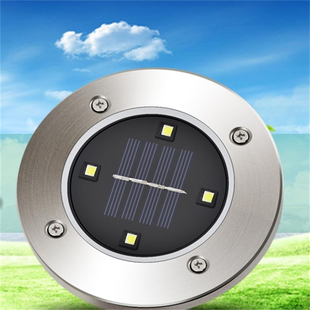 Solar Powered 4 LED Lighting Buried Ground Underground Lights for outdoor garden Yard Led Lawn Landscape
