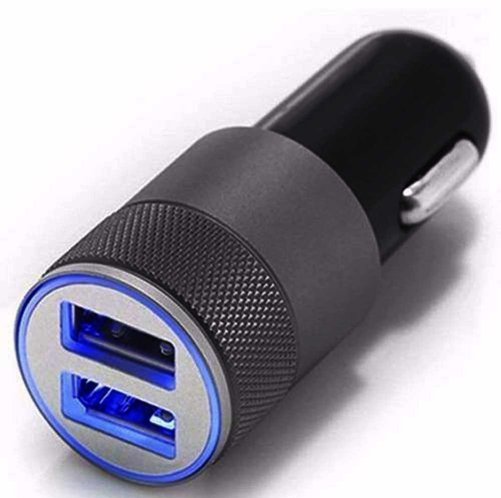 Mini Dual USB Twin Port 12V Universal In Car Lighter Socket Charger Adapter plug Car charger  a29