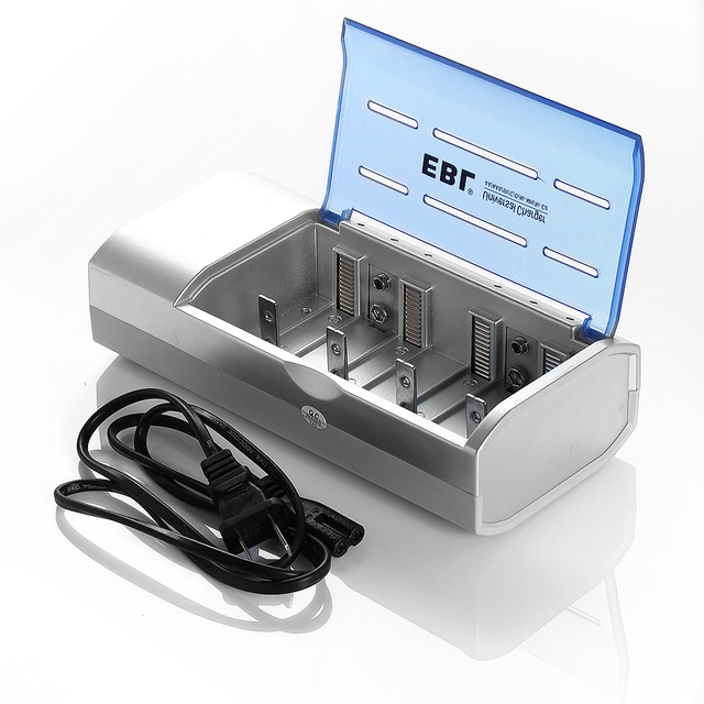 EBL Rechargeable Battery Charger for AA/AAA Battery C D Size Ni-MH Ni-CD Rechargeable Batteries Universal free shipping
