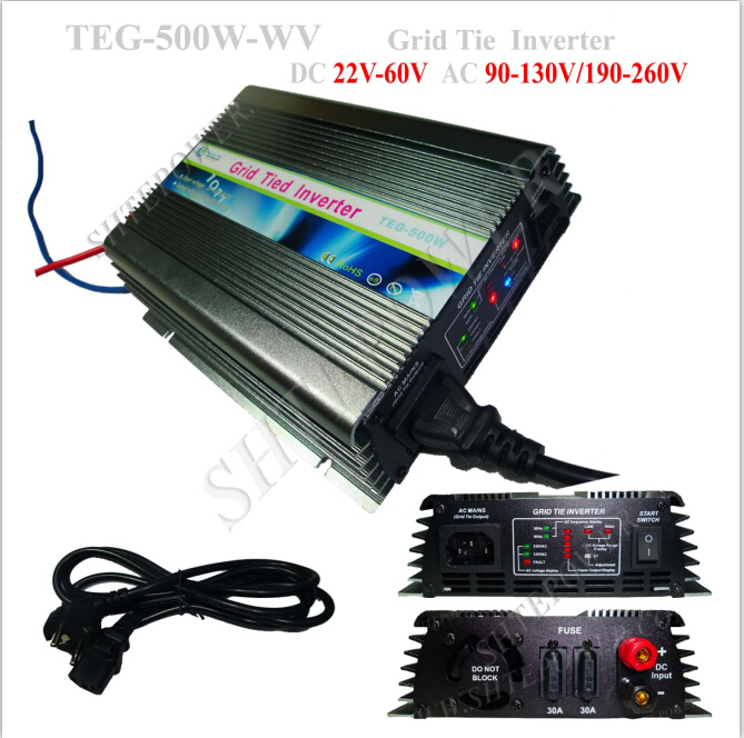 Strong <font><b>adaptability</b></font> stability grid tie 22-60v converter solar 500w image
