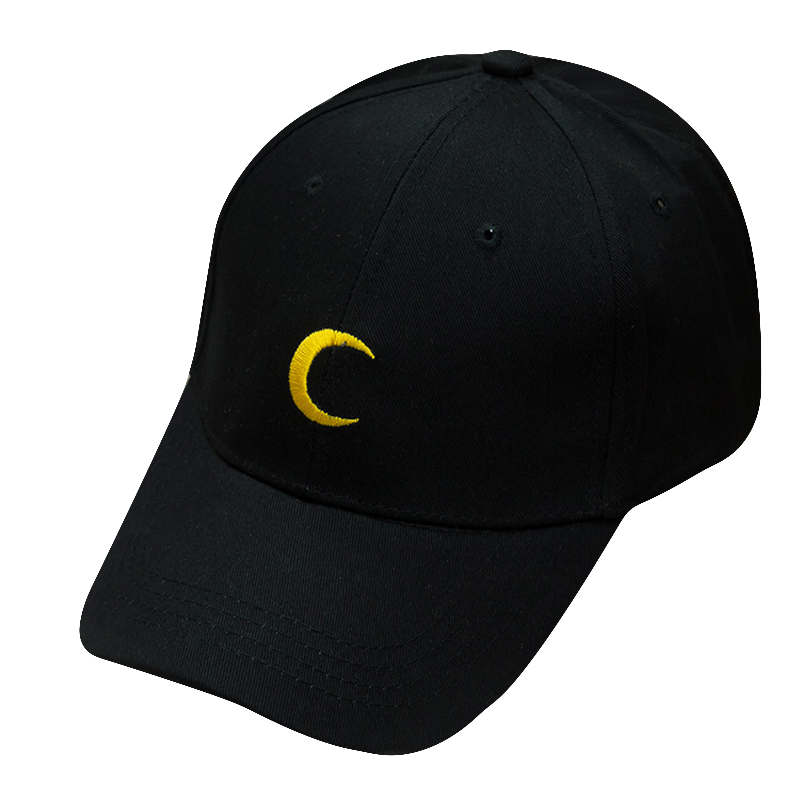 Apparel Accessories Loyal Maxsiti U Black Moon Pattern Design Embroidered Baseball Cap Leisure Men And Women Snapback Hat Accessories To Rank First Among Similar Products Men's Hats
