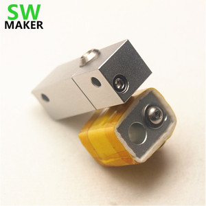 Wanhao i3 Upgrade MK10 PTFE набор Hotend набор щелевой зажимной охлаждающий блок для 3D-принтера Wanhao i3 0,4 мм 1,75 мм