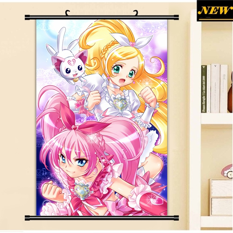 40X60CM Takahashi Akira Suite Precure Pretty Cure loli art Anime Cartoon scroll wall picture mural poster cloth canvas painting
