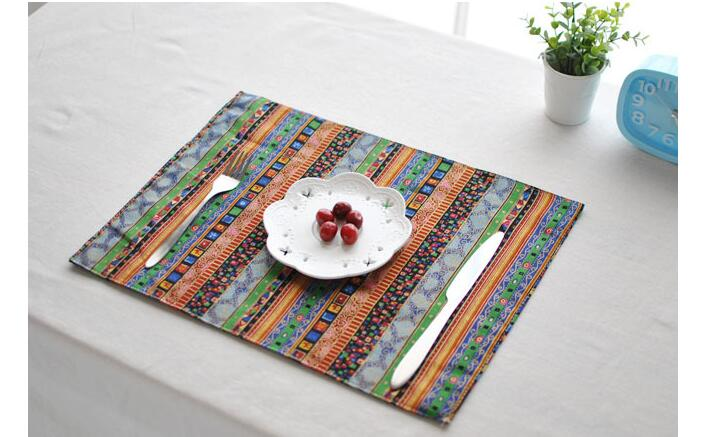 Europe Cotton Linen Placemat Coaster Dining Table Mats Rugs Table Pad Coaster Bohemia StyleTable Decoration Kitchen wares