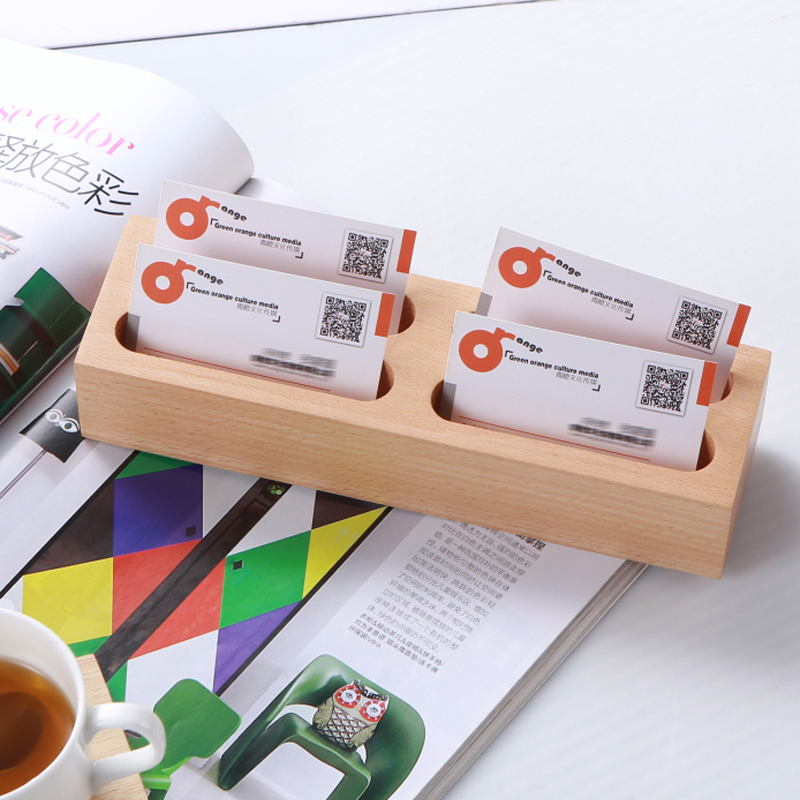 2017 Creative Wooden Business Card Case Multi Layer Card Rack ...