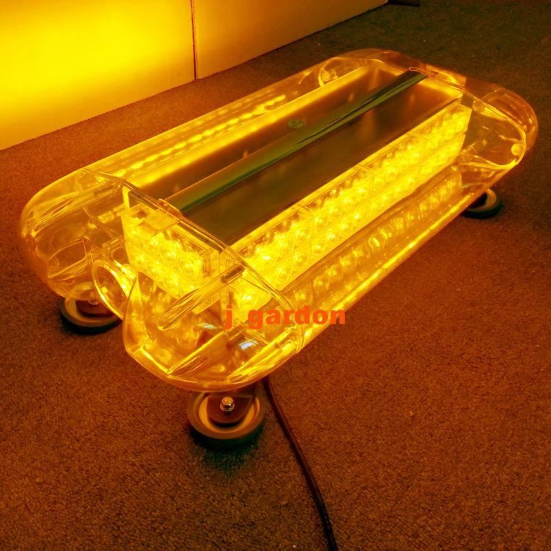 12V-24V 580mm 58cm 80 LED Wrecker Beacon Flashing Recovery LightBar Strobe Light Amber