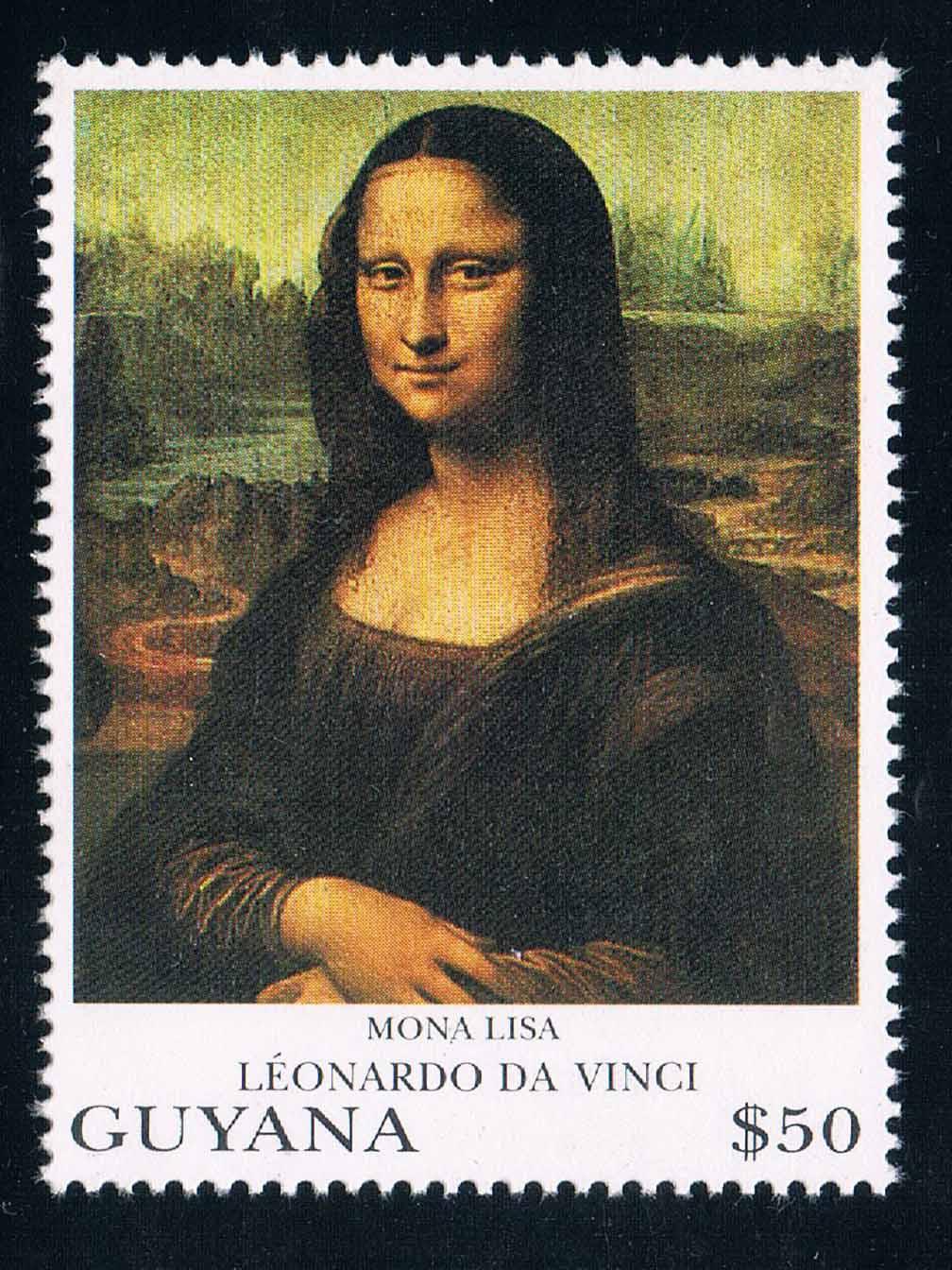 DA0689 Guyana 1993 Da Vinci world famous painting Mona Lisa 1 new stamps 1008 конструкторы bridge мост leonardo da vinci