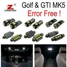 16 pz X canbus per GTI Coniglio VW Golf 5 MK5 MKV mappa cupola di luce interna A LED + luci di Parcheggio della città kit lampadina (2006-2009)