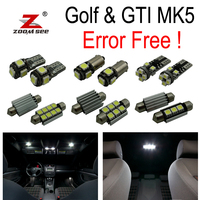 16pc X canbus for GTI Rabbit VW Golf 5 MK5 MKV map dome LED interior light + Parking city bulb kit (2006 2009)