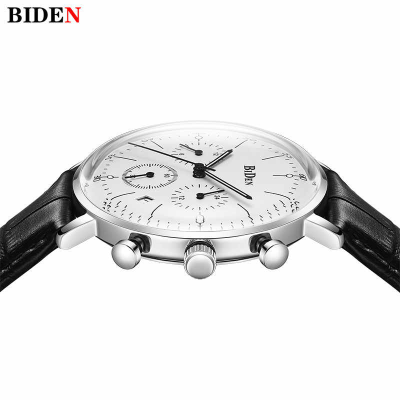 d6e233cb6 ... BIDEN Watch Man Luxury 2018 Ultra Thin Stylish Design Quartz Mens Watches  Chronograph Watch Sports Genuine ...