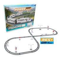 365cm Power Train Set With Light DIY Bullet Motor Car Electric High Speed Railway Track Toys