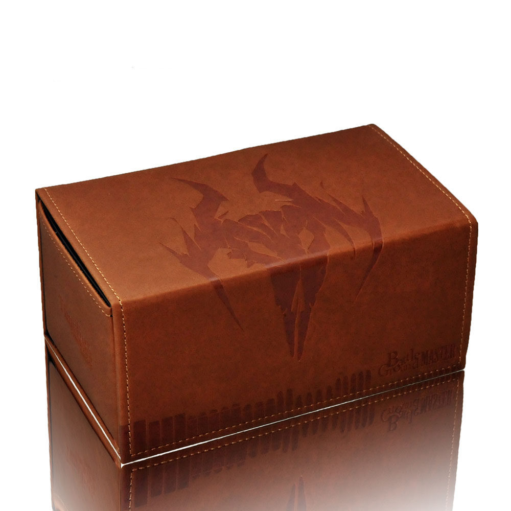 TW Hand Made Genniue Leather Opposite Open Cards Box Wild Western Cow Head Deck Case Suitable for Game King Holding 180 Cards