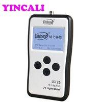 LS125 УФ счетчик с UVC зонд тесты ультрафиолет мощность измеритель интенсивности ультрафиолета энергии для UVA UVB UVC Поддержка 9 типов сенсорный щ