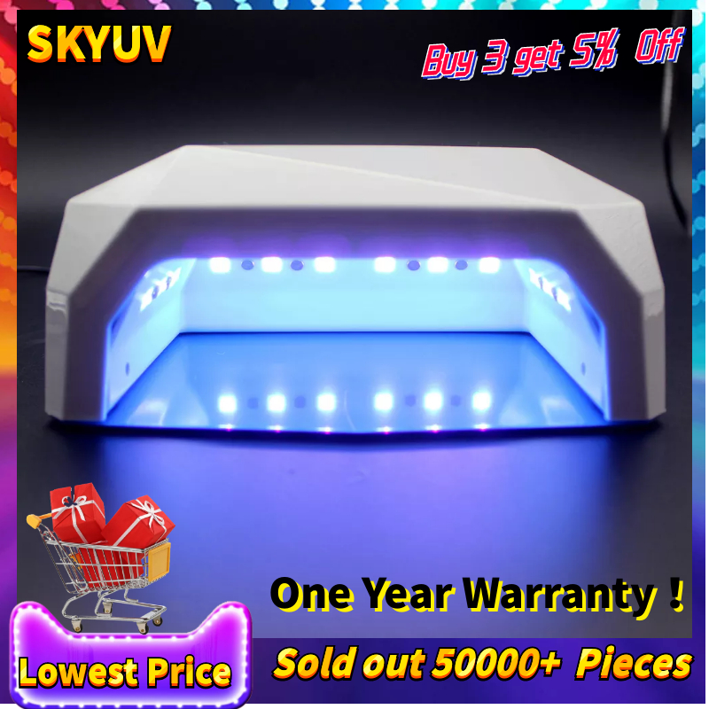 Professional Diamond Shape Nail Dryer LED UV Lamp 36 w Gel Nail Machine Dry Nails, Nail Polish Tool Protection Lamp For Manicure