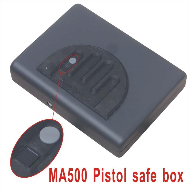 wholesale ma500 biometric fingerprint safe box key gun vault jewelry box cable portable hot new creative - Biometric Safe