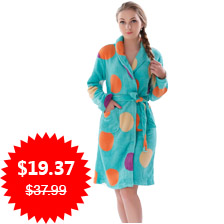 New Women Coral Fleece Winter Autumn Warm Bathrobe Nightgown Kimono Dressing Gown Sleepwear Robe For Lady