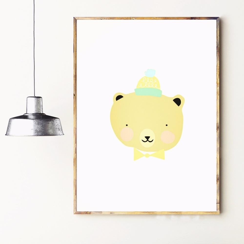 Nursery Animal Fruit Smile Canvas Art Print Painting Poster Wall ...
