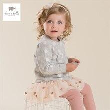 DB4227 дэйв bella baby девушки осень точки печатных пальто дети верхняя одежда девушки серый берри пальто