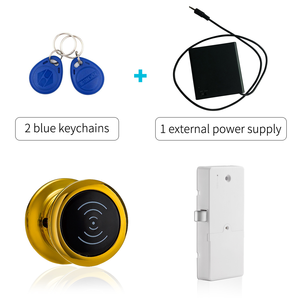 125khz RFID card lock locker Electronic Cabinet Lock Magnetic Swipe Card RFID Cabinet Locker Door Locks in Gold color high quality universal metal electronic digital rfid gym magnetic locker lock