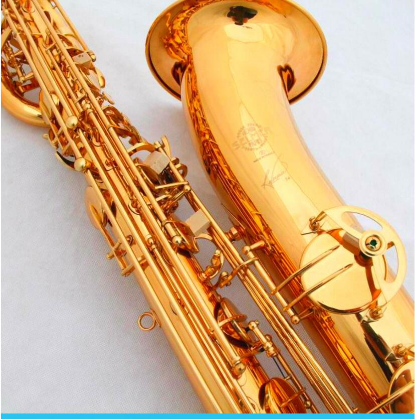 France Selmer Baritone Saxophone Gold Lacquer Carving 54 Professional Eb Sax Mouthpiece Sax saxophone #60 Free Shipping tenor saxophone free shipping selmer instrument saxophone wire drawing bronze copper 54 professional b mouthpiece sax saxophone