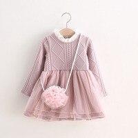 Ubrania dla dzieci Princess Dress Dziecko Dzieci Zimowe Swetry Dziewczyny Koronki Tutu Sukienka Nowy Rok Sukienki dla Dziewczyna Odzież Hurtownie