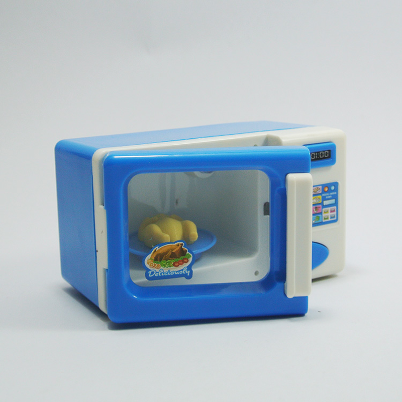 Play House Toy Microwave Oven Kitchen Toy Children Kid Mini Cute Pretend Role Play Toy Educational For Children Role Playing J74