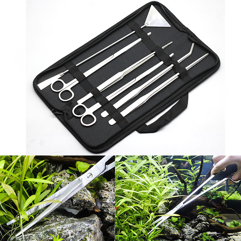 Cleaning & Maintenance Fish & Aquariums Sporting Premium German Fish Tank Cleaning Kit-basic Aquascaping Tools Stainless 5pcs New Varieties Are Introduced One After Another