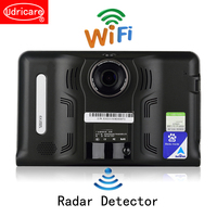 Udricare 7 inch GPS Android WiFi GPS Navigation DVR Camcorder 16GB Radar Detector Allwinner A33 Quad Core Rear View Camera GPS