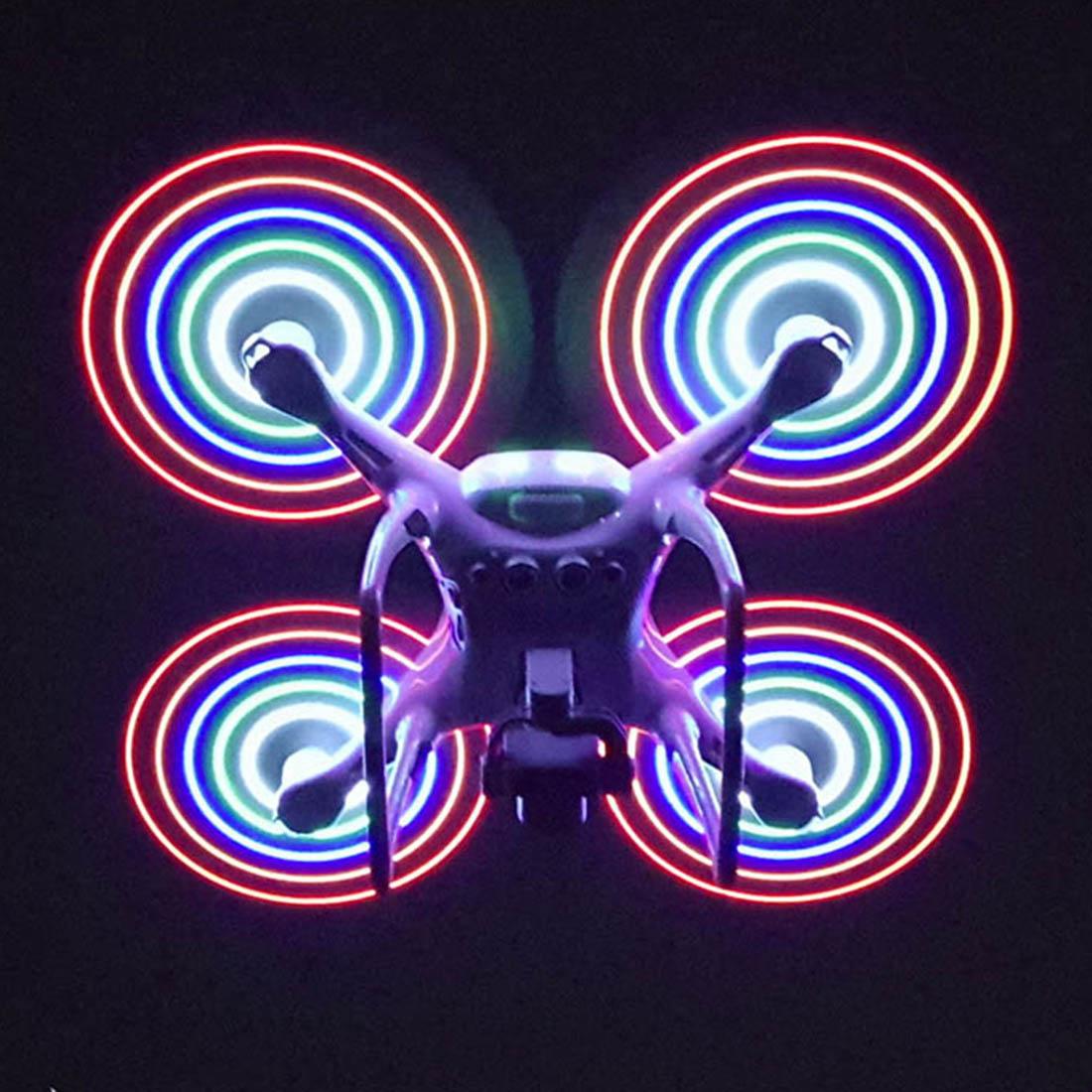 1 Paire À La Charge Type Coloré LED Lame Hélice pour DJI Phantom 4 Pro/Phantom 4PRO V2.0-Blanc