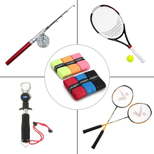 6Pcs Tennis Racket Grips Anti-skid Badminton Racquet Grips Vibration Overgrip Sweatband Tennis Racket Islamabad