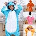 2017 winter New Flannel pyjama baby girl pyjama set Pikachu Stitch cosplay Hooded christmas pijama infantil kids boys sleepwear