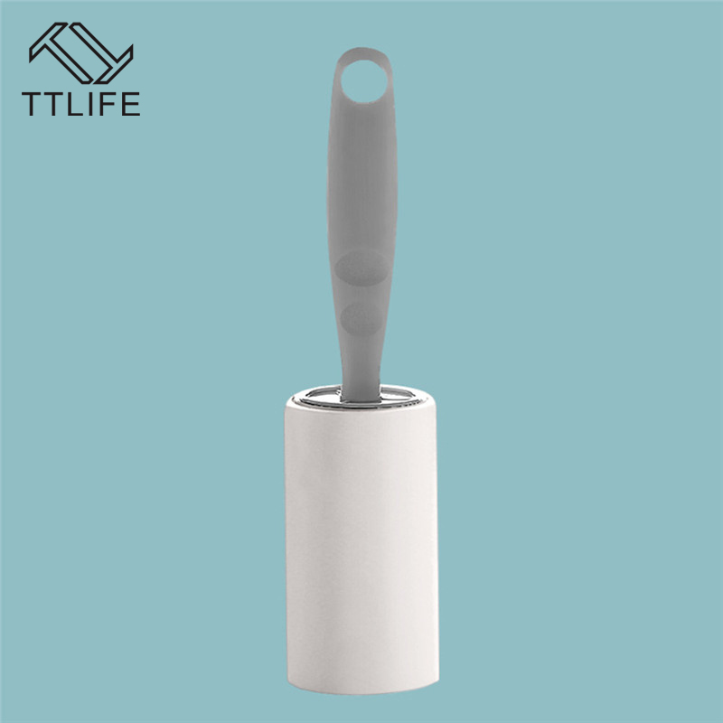 TTLIFE Sticky Hair Can Tear Roller Brush Sticky Paper Sticky Hair Roll Off Felt Gray Clothes Stained Hair Artifact Roll Paper in Lint Rollers Brushes from Home Garden