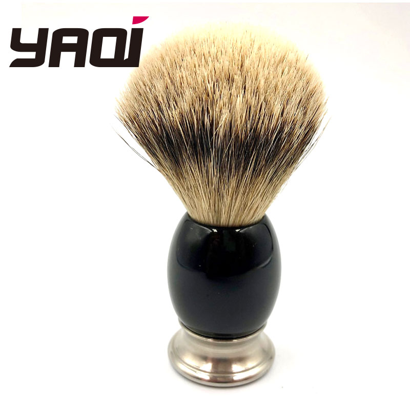 Yaqi 100 Pure Silvertip Badger Hair Hand crafted Shaving Brush for Shave Barber Tool Brush Manufacturers