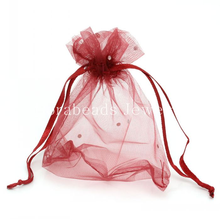 Red Wedding Gift Bags : hot Organza Drawable Wedding Gift Bags&Pouches Rectangle Wine Red ...