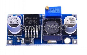 FREE SHIPPING 10PCS/LOT LM2596 Power Module DC/DC 1.3V-35V 3A Adjustable Ultra Small Size Voltage Regulator Module
