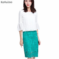 KoHuiJoo S 4XL Women New Short Sleeves Chiffon Shirts Elegant Ol White Blouses Plus Size Embroidery
