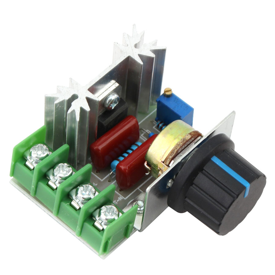 220V 2000W Led Dimmer Switching Controller Electronic 220V Controller Voltage Regulator Control Single Color White Green Red