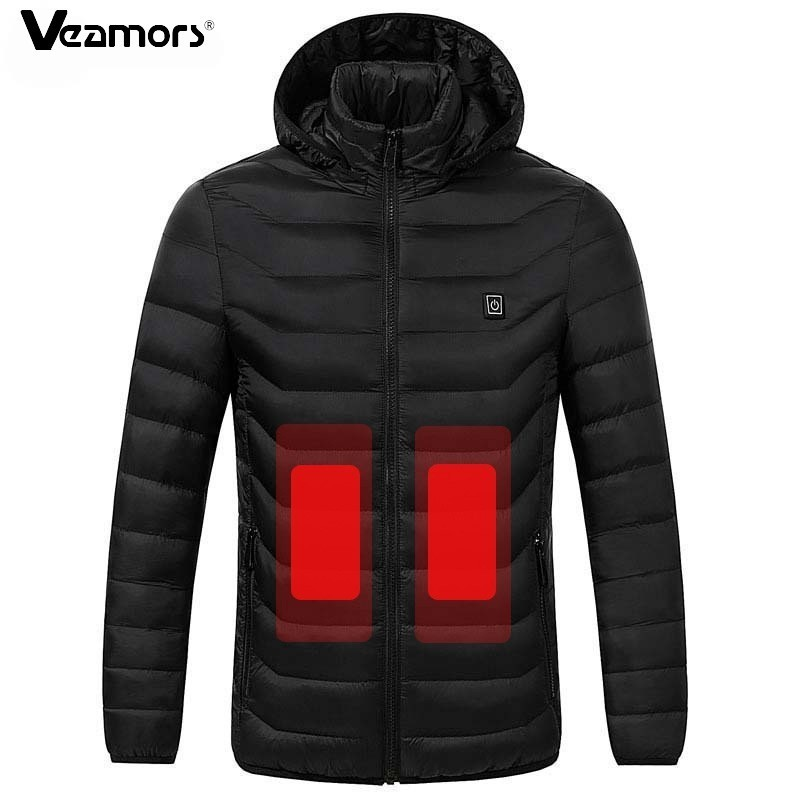 Winter Heated Jackets For Men Women Warm Hiking Jackets Thermal Heating Clothing Waterproof Climbing Skiing Hooded Coat S-3XL(China)