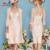 2017 New Arrival Elegante Do Laço Mãe do Vestido Da Noiva com Revestimento de 3/4 Mangas Beading Apliques Mulheres Formal Festa À Noite vestido