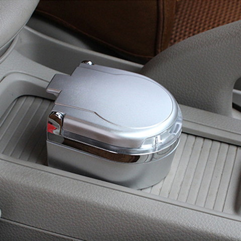 Portable Car Ashtray LED Light Auto Car Cigarette Cylinder Ashtray Holder Cup with Cover Light Emitting Ash Cylinder Gift Multan