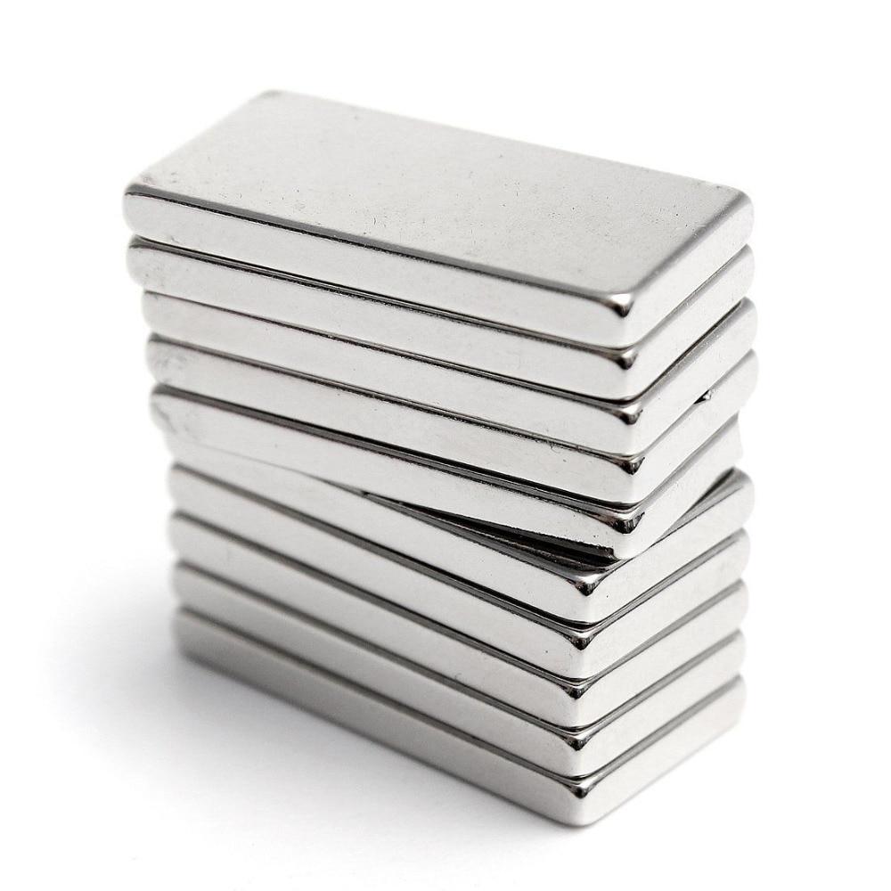 Купить на aliexpress 5 шт. супер сильный неодимовый магнит прямоугольный Блок редкоземельных магнитов N35 20x10x2 мм