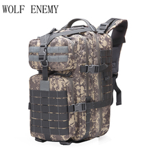 40L Военная Униформа Тактический штурмовой пакет рюкзак армии 3D водостойкий ошибка из сумка маленький для Открытый пеший Туризм Кемпинг Охота