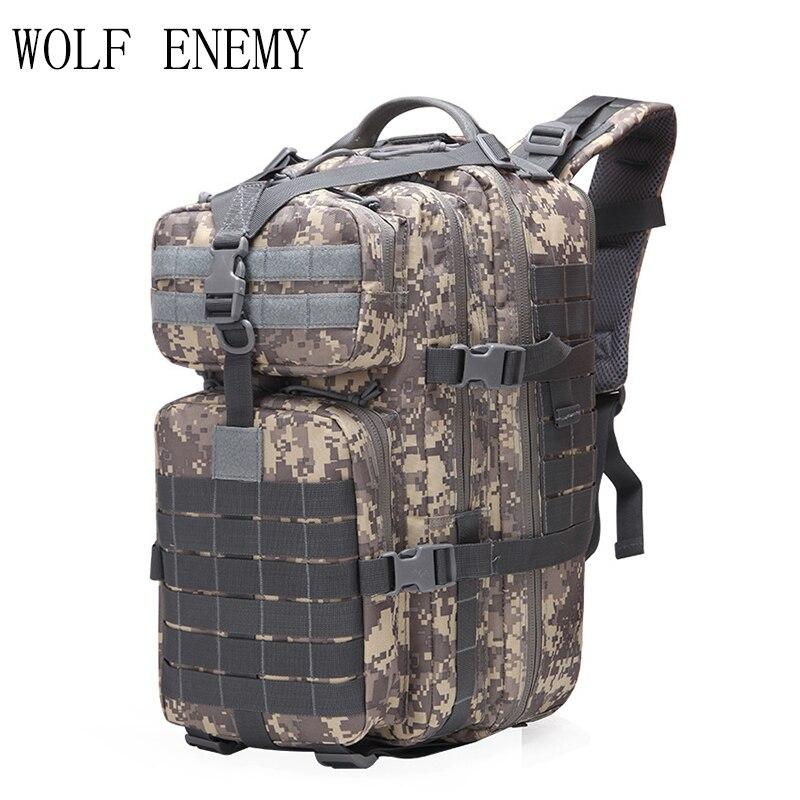 40L militar Paquete de asalto táctico ejército mochila 3D impermeable salir bolsa mochila para acampar al aire libre senderismo caza