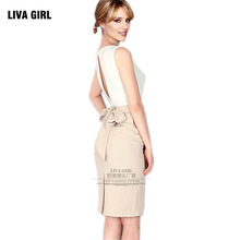 LIVA GIRL2019 Women Bodycon Summer Plus Size Dresses Sexy Hollow Back Bowknot Party White Short Dress