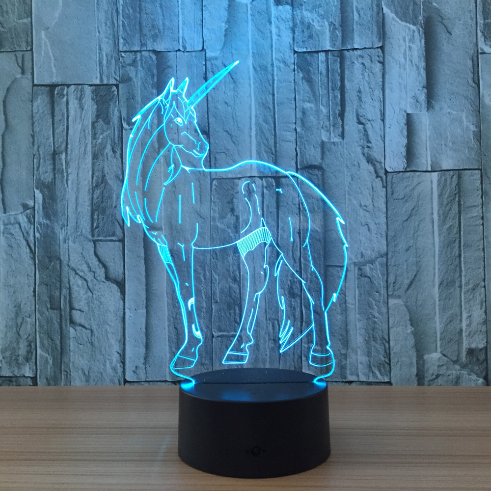 unicorn 7 color changing night light collectible charizard. Black Bedroom Furniture Sets. Home Design Ideas
