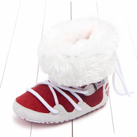 0 18Months Baby Boy Girl Winter Warm Snow Boots Lace Up Soft Sole Shoes Infant Toddler