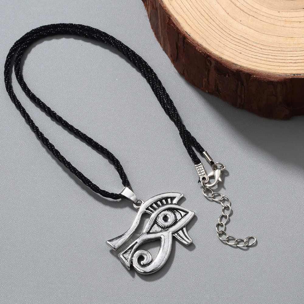 Chandler egipski egipt piramida wszystkie widząc Evil Eye Illuminati srebrna zawieszka antyk naszyjnik dla mężczyzn chłopcy moda Bijoux